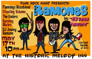 40 Years of Ramones Celebration!: Enders, Stealing Volume, Flamingo Nosebleed, Burning Mules, DJ Jewey Ramone + live band Karaoke! @ The Melody Inn | Indianapolis | Indiana | United States