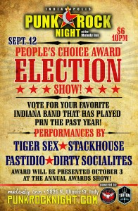 People's Choice Award Election Night! Fastidio, Stackhouse, Tiger Sex, Dirty Socialites @ The Melody Inn | Indianapolis | Indiana | United States