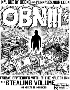 Special Friday PRN: OBN III's from Austin with Stealing Volume and Smokes @ The Melody Inn | Indianapolis | Indiana | United States