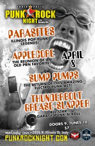 Applecore reunion, Sump Pumps return, Parasites, Thunderbolt Grease-Slapper @ The Melody Inn   Indianapolis   Indiana   United States
