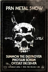 METAL SHOW: Summon the Destroyer, Photian Schism, Occult Deceiver @ The Melody Inn | Indianapolis | Indiana | United States
