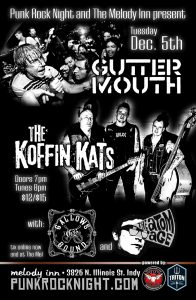 Wow: Guttermouth, Koffin Kats, The Atom Age, Gallows Bound @ The Melody Inn | Indianapolis | Indiana | United States