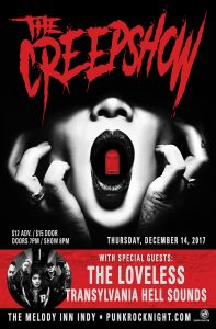The Creepshow, with The Loveless, and Transylvania Hell Sounds @ The Melody Inn | Indianapolis | Indiana | United States