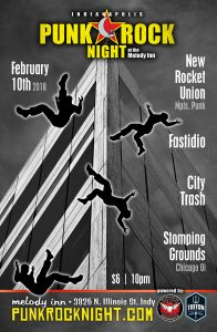 Fastidio, City Trash, Stomping Grounds, New Rocket Union @ The Melody Inn | Indianapolis | Indiana | United States